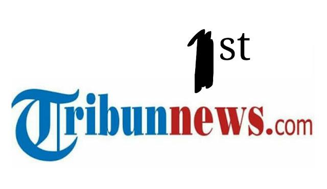 tribun news peringkat pertama google