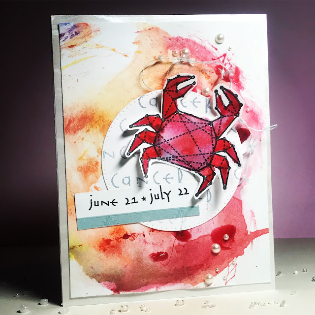 watercolor_handmade_card_zodiac_sign_cancer