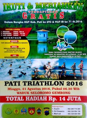 Ikuti Lomba Triathlon Tingkat Jateng di Pati Hadiah Rp 14 Juta