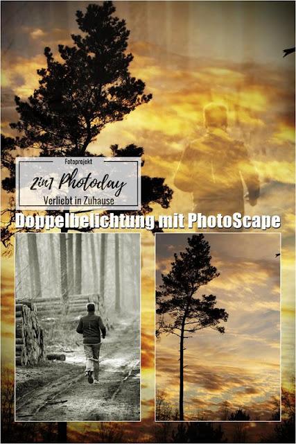 2in1 Fotoprojekt: Doppelbelichtung (Double exposure / Mehrfachbelichtung) in Photoscape: Der Skyrunner