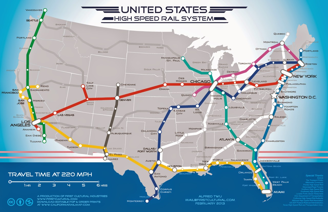 http www fastcoexist com 1681342 a beautiful vision of an american high speed rail map