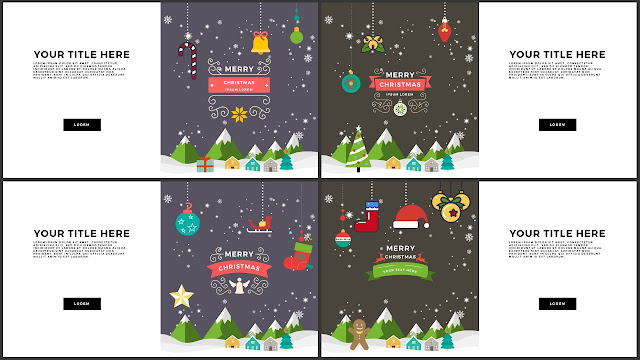 Animated Christmas Free PowerPoint Template Slide 5-8
