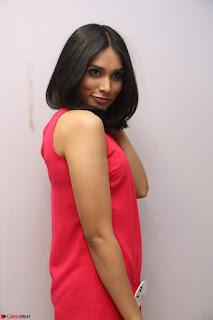 Spatika Surapaneni in Red Tight Dress at FBB Miss India 2017 finalists at Telangana auditions Feb 2017 (40).JPG
