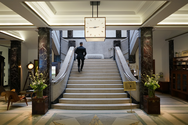the lobby of town hall hotel bethnal green london