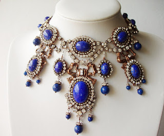 princess necklace antique style, handmade, statement jewelry