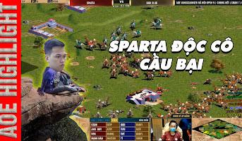 AoE Highlight | Trận đấu thể hiện sự độc cô cầu bại của Sparta trong map 4vs4