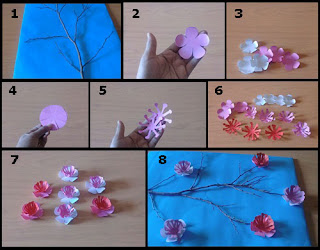 Tutorial Hiasan Dinding Bunga Sakura dari Bahan Kertas
