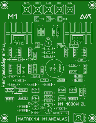 1000W Power Amplifier PCB Layout Design Matrix