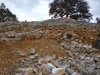 Construcciones adosadas a la muralla. Interior del castro