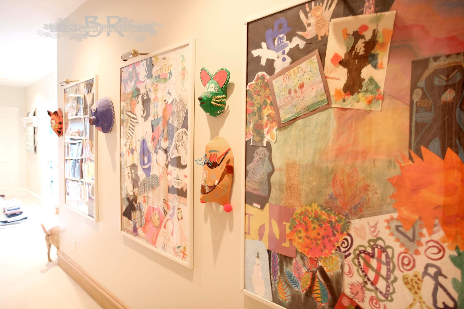 Kids Art Work Gallery Collage Bliss-Ranch.com