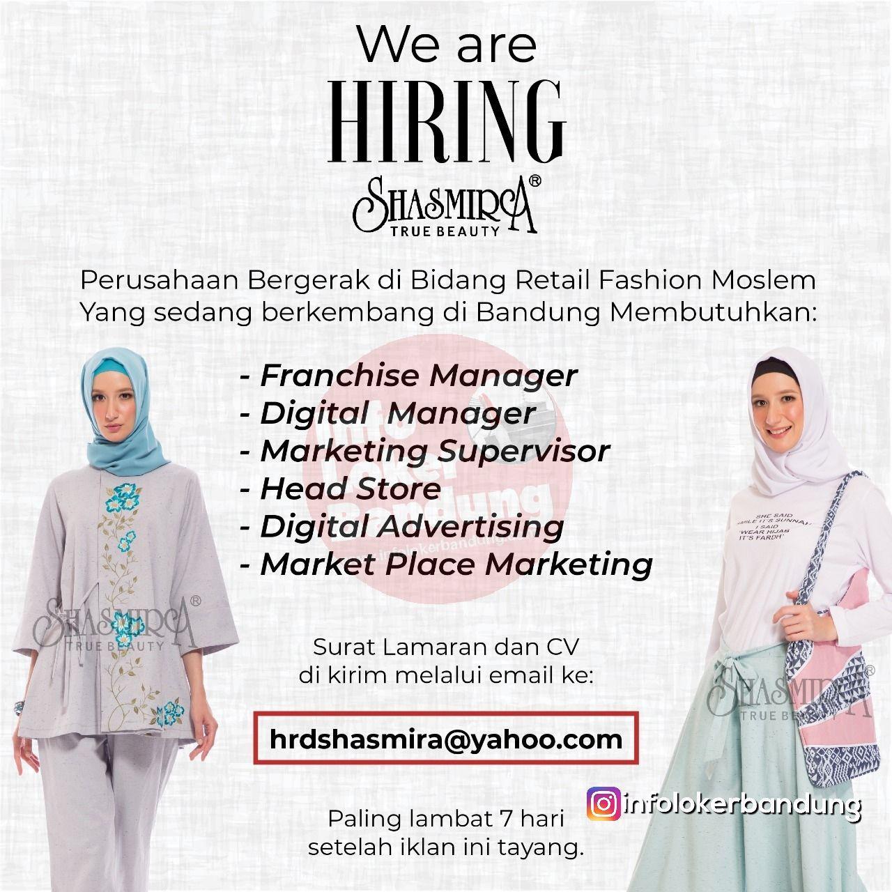 Lowongan Kerja Shasmira True Beauty Bandung Januari 2019
