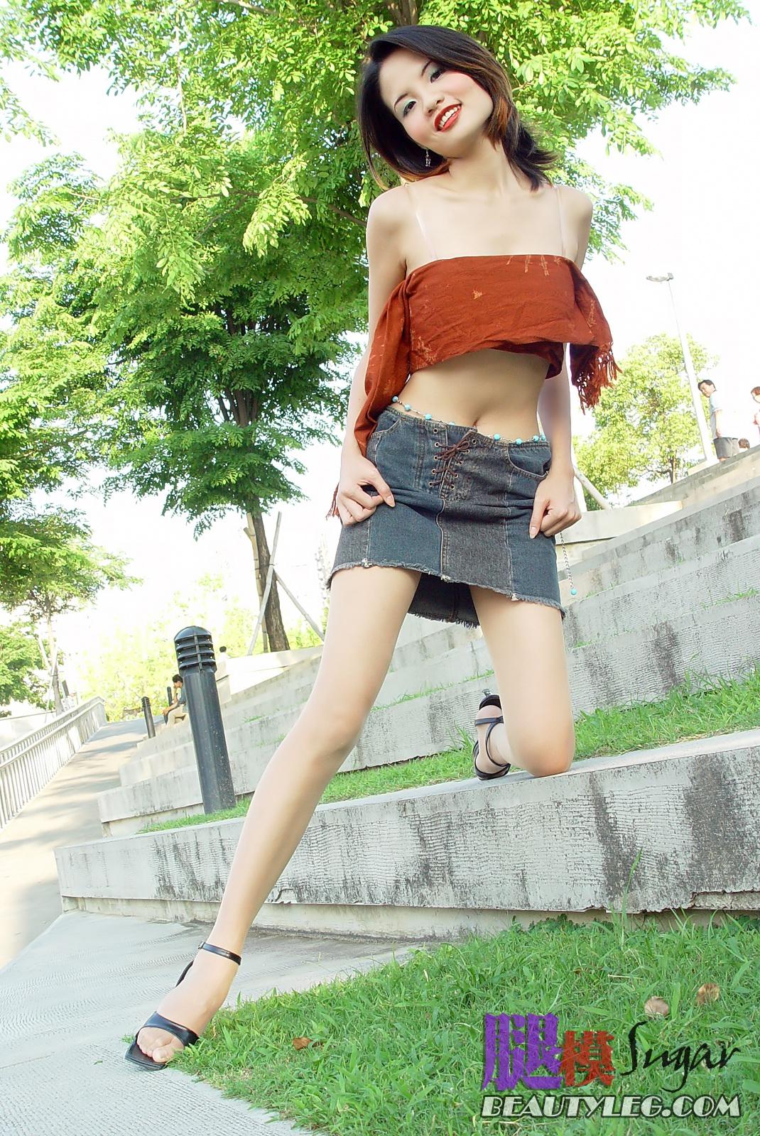 Asian girls in short skirts