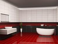 Badezimmer Fliesen Rot