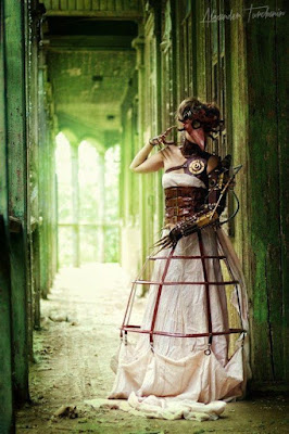 women's steampunk cage skirts and hoop skirts are like victorian era hoop petticoats, cage crinoline