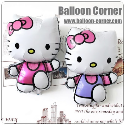Balon Foil Hello Kitty Run