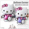 Balon Foil Hello Kitty Run