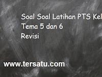 Soal PTS Kelas 1 Tema 5 dan 6 Semester 2 Th. 2019