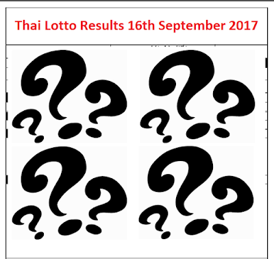 Thai Lotto Results - 16th September 2017