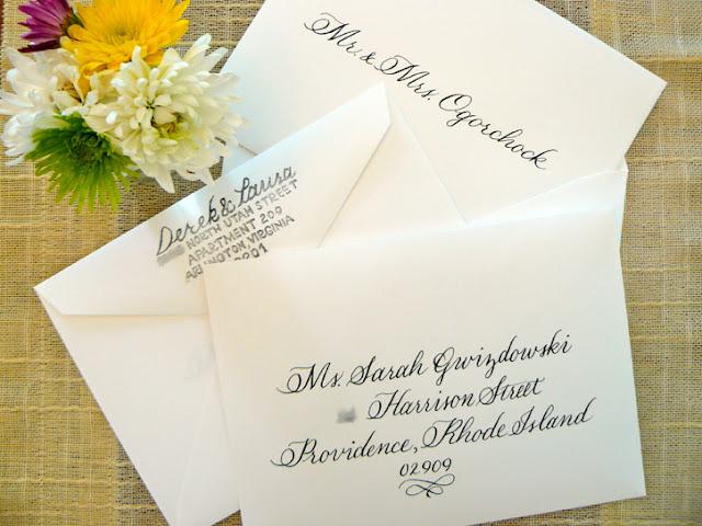 Handwritten Wedding Invitation Envelopes: Limefish Studio: Simply Handwritten: DIY Wedding