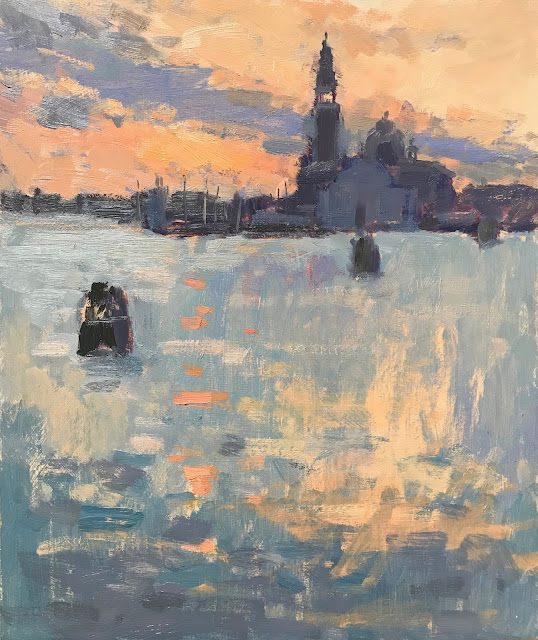 #401 'My Last Sunrise in Venice!' 10×12″