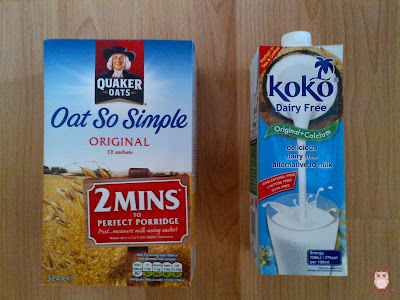 breakfast oath and milk