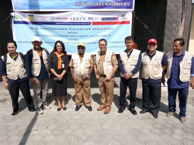Ini Kerjasama Dinkes Papua Dan PT Pos Indonesia Tanggulangi TBC