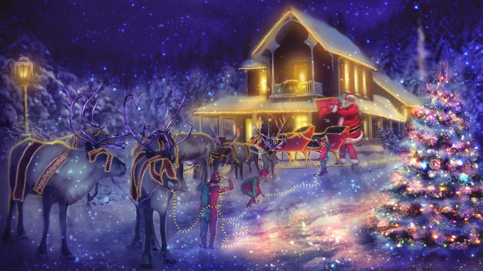 santa-arriving-with-elves-and-reindeer-sleigh-at-house-graphics-image.jpg