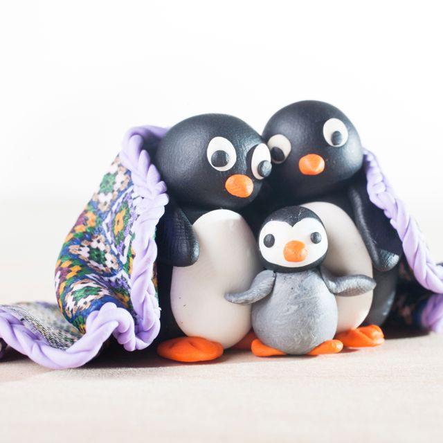 Polymer clay penguin tutorial