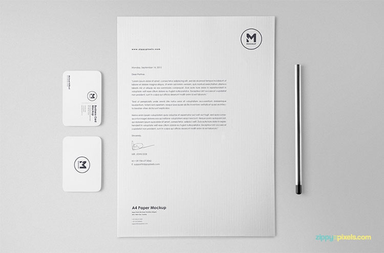 Free Stationery Mockup Set