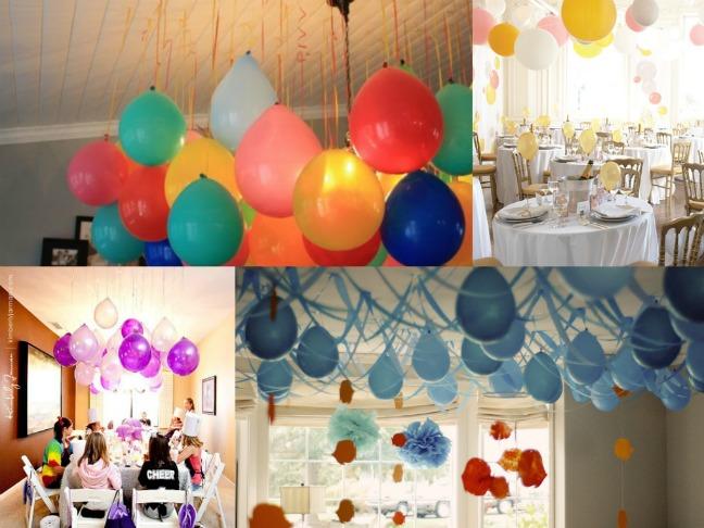 Decoraciones de globos sin usar helio