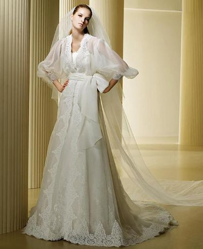 The Best White Lace Wedding Dress With Transpa Shawl