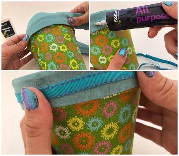 Sticking ribbon with Bostik all purpose glue