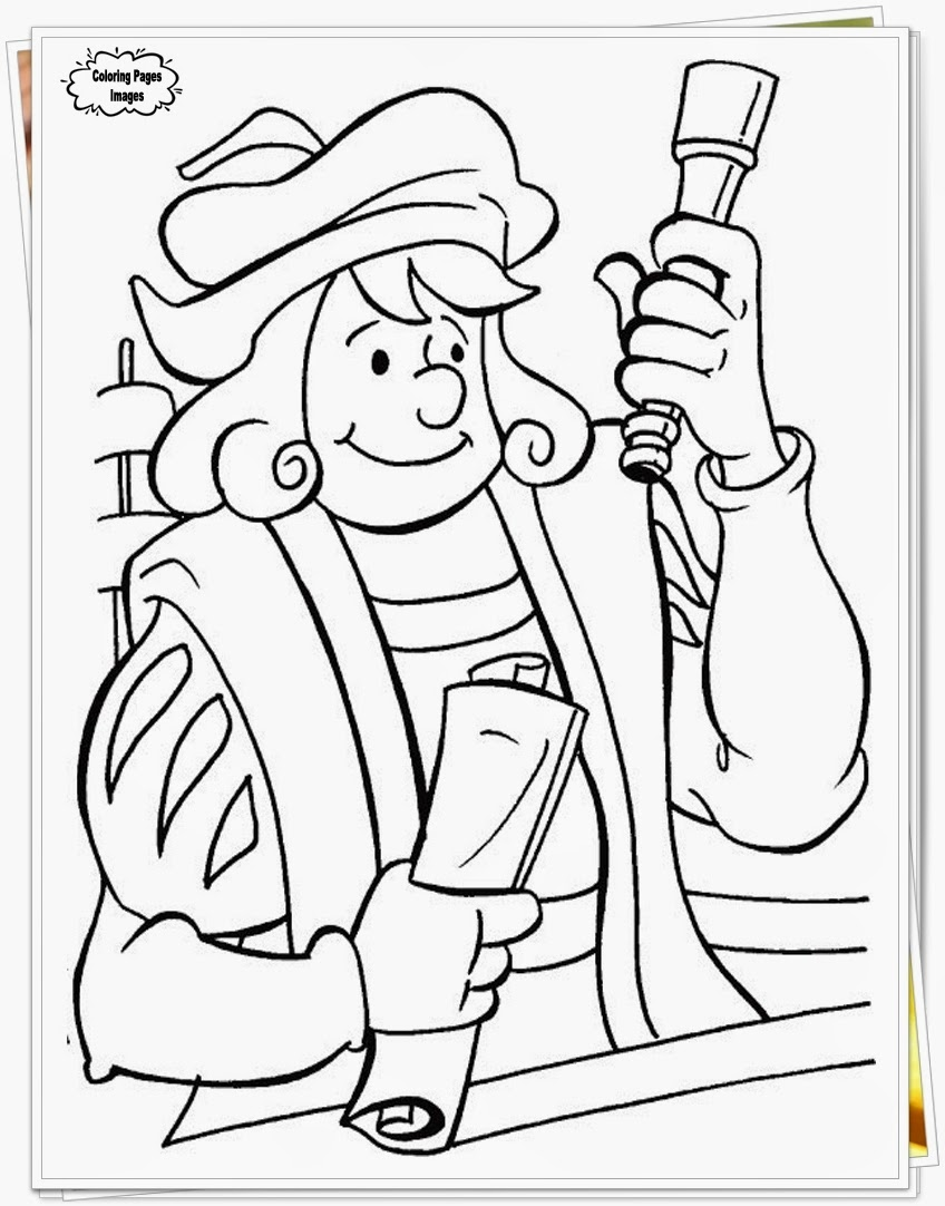 Downloads Coloring Pages Of Columbus Day