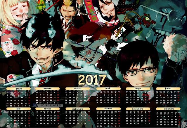 ao no exorcist 2017 calendario