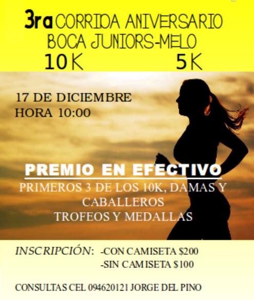 10k y 5k del Boca Juniors de Melo (Cerro Largo, 17/dic/2017)