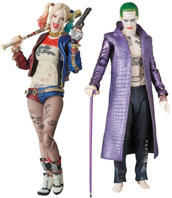 Suicide Squad MAFEX Action Figures by Medicom - Harley Quinn & The Joker