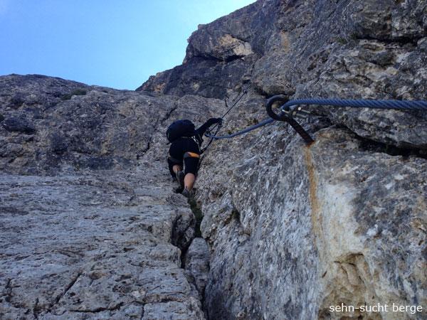 Klettersteig Pößnecker : Sehn sucht berge pößnecker klettersteig und piz selva m
