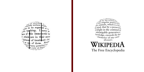 Wikipedia, first two logos 2001