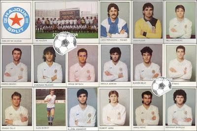 Hajduk Split sličice album Fudbal 90 1989/90