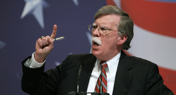 JOHN BOLTON: THE NEW NATIONAL SECURITY ADVISER.