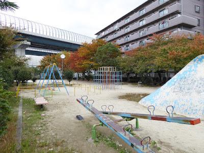 大阪府門真市 下三ツ島公園 紅葉が奇麗