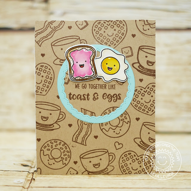 Sunny Studio Stamps: Breakfast Puns Origami Fold Love Themed Card by Lexa Levana
