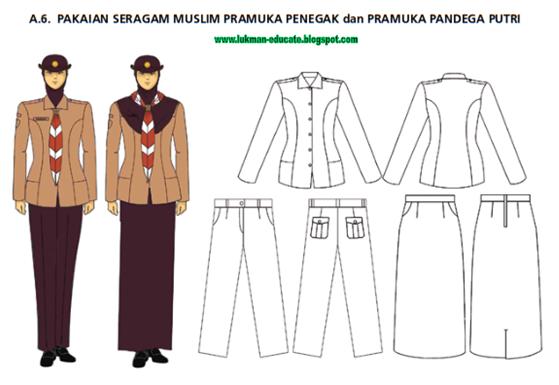 pakaian seragam pramuka muslim penegak dan pandega puteri