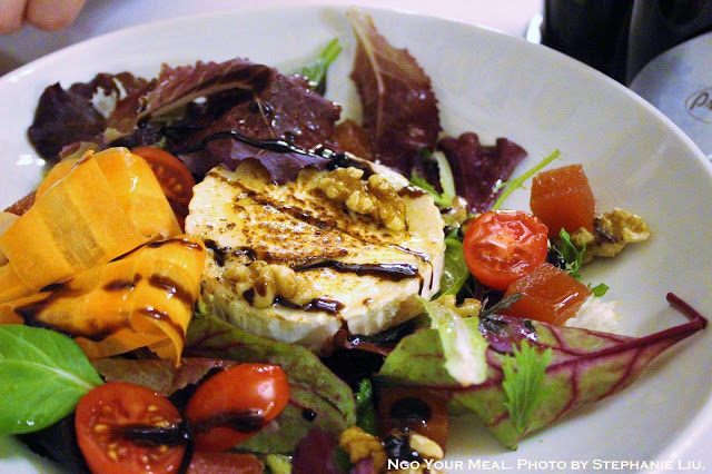 Goat Cheese and Quince Salad with Honey Sauce at Can Culleretes in Barcelona