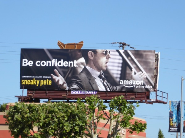 Sneaky Pete Be confident 2017 Emmy billboard