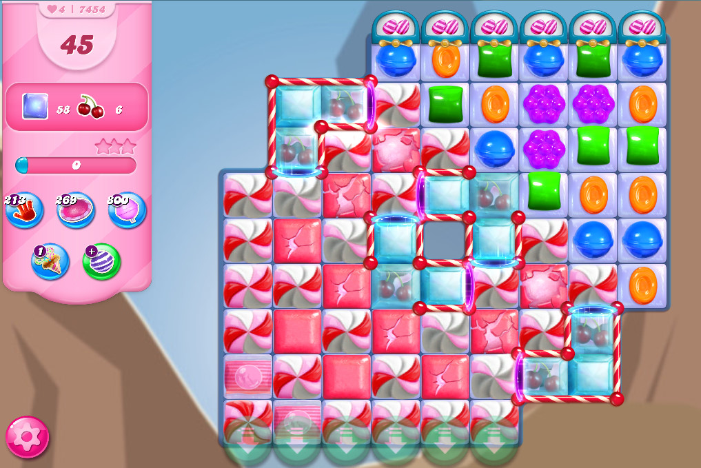 Candy Crush Saga level 7454