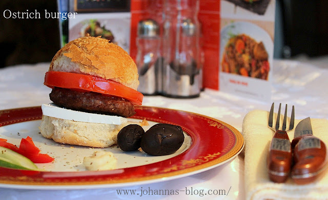 Ostrich burger recipe