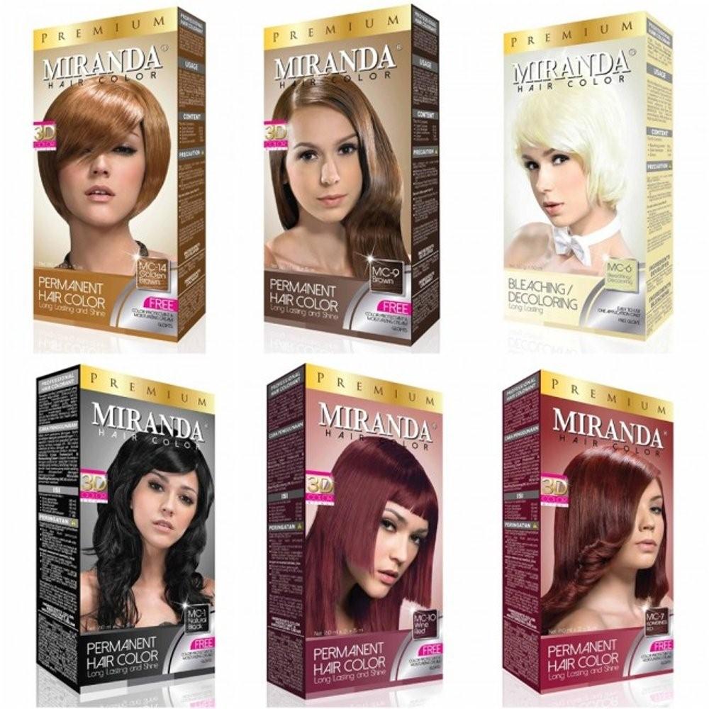 14 Varian Warna  Miranda  Hair Color Premium Rosa Bercerita