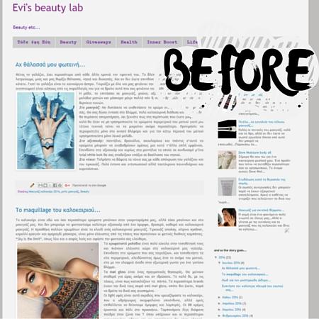 Recent Blog Design Work: Evi's Beauty Lab