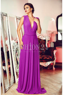 rochie de ocazie eleganta, intr-o culoare superba de mov